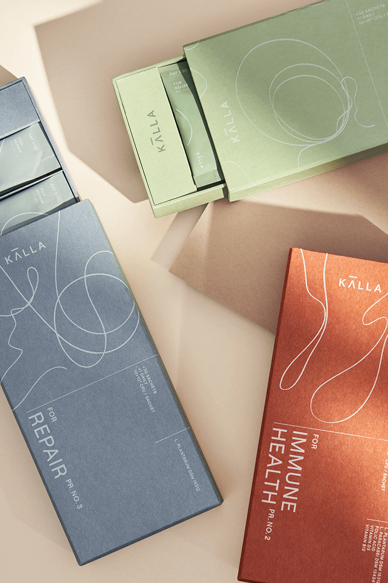 KÄLLA FOR LIFE includes all 3 KÄLLA products in the range to support overall gut health - open products.